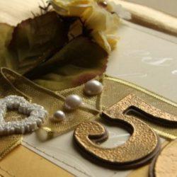 Золотая свадьба - набор атрибутов