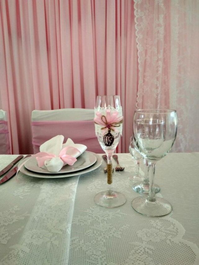 Оформление стола для оловянной свадьбы