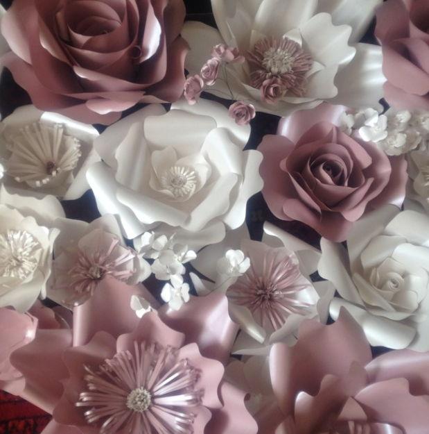 Бумажные розы на оловянную свадьбу