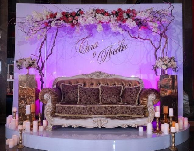 Оловянная свадьба, оформление помещения