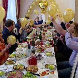 Золотая свадьба - празднование и вручение подарков